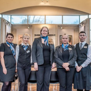 Teri Byrne (Catering Manager) and the Murray Edwards Front of House Team