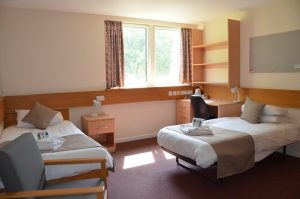Cambridge College Accommodation Twin Bedroom